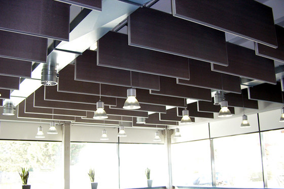 Space Baffle With Frame Acoustic Ceiling Systems From Silentrooms