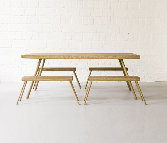 Landluft Table & Bench by Andreas Janson | Upholstered benches