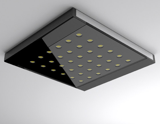 led q pad flache lichtstarke led anbauleuchte von hera. Black Bedroom Furniture Sets. Home Design Ideas