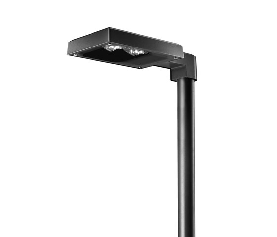York LED Pole mounted luminaire with bracket by Hess | Spotlights
