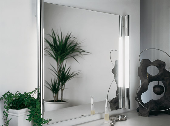 Las Vegas - Fluorescent Over-Cabinet and Mirror Light by Hera | Wall lights in metal