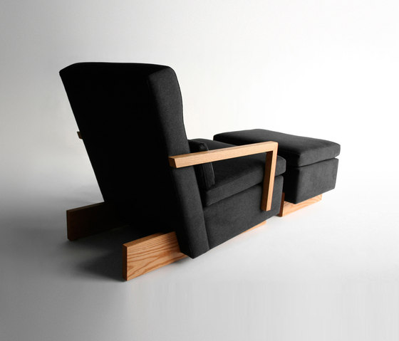 Trax Chair with Arms & Ottoman by Phase Design | Lounge chairs