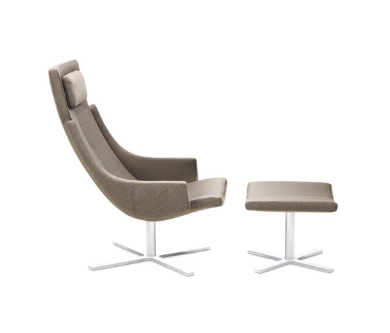 Model 1283 Link | High-Back Chair with Stool di Intertime | Poltrone