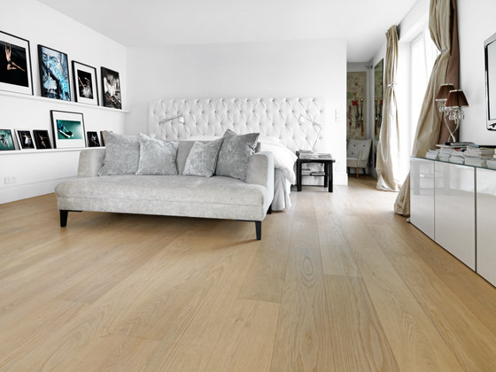 OAK Clear Wide-Plank brushed | white oil by mafi | Wood flooring