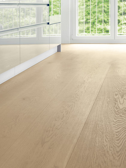 OAK Character wide-plank brushed | white oil by mafi | Wood flooring