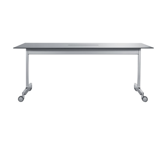 N table Rechtecktisch- C-Fuß by Wiesner-Hager | Multipurpose tables