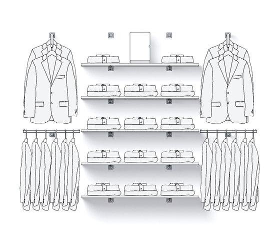 Mono 55   55 Q di Shopfitting systems by Vitra   Single point support systems