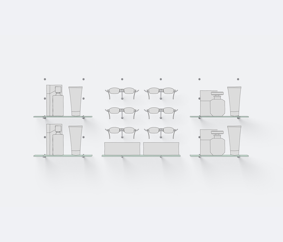 Mono 6 de Shopfitting systems by Vitra | Sistemas de puntos independientes