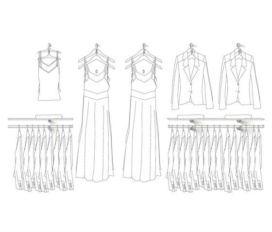 Lusso von Shopfitting systems by Vitra | Einpunktsysteme