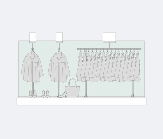 Area Viva 35 di Shopfitting systems by Vitra | Single point support systems