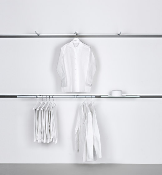 Invisible 6 I 6 C von Shopfitting systems by Vitra | Horizontale Systeme