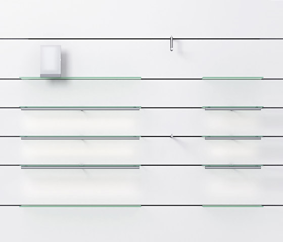 Invisible 8 P by Shopfitting systems by Vitra   Horizontal support systems
