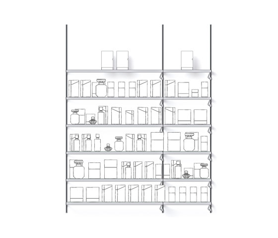 Xero 8 P by Shopfitting systems by Vitra | Vertical support systems