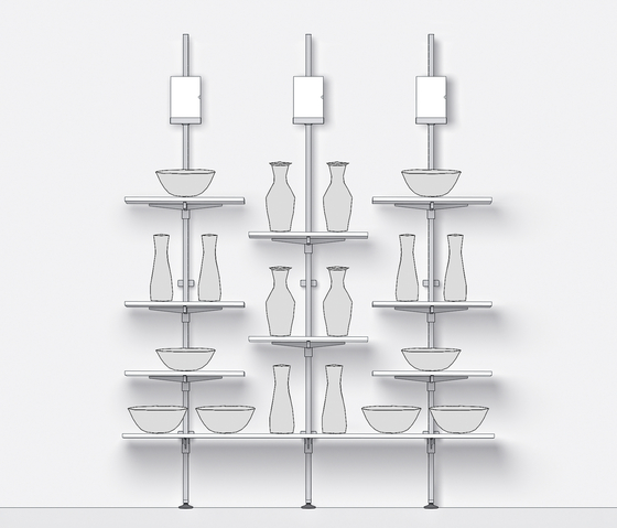Steel by Shopfitting systems by Vitra | Vertical support systems