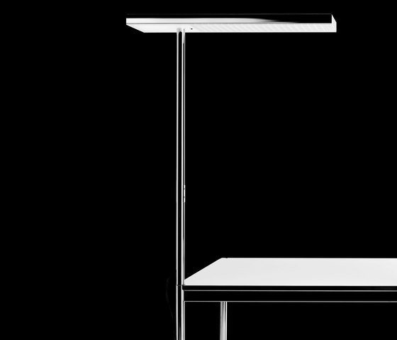 office air LED for usm haller table, single-sided di Nimbus | Lampade da tavolo in acciaio