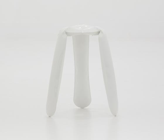 Plopp Stool | Kitchen | white de Zieta | Tabourets de bar