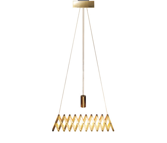 fleXXXibile standard | brass by Lucelab | Pendant lights in metal