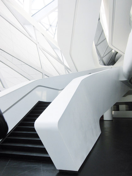 STARON® Stairs by Staron | Railings / Balustrades