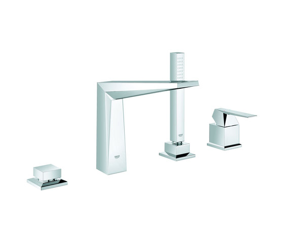 Allure Brilliant Four-hole single-lever bath combination by GROHE | Bath taps
