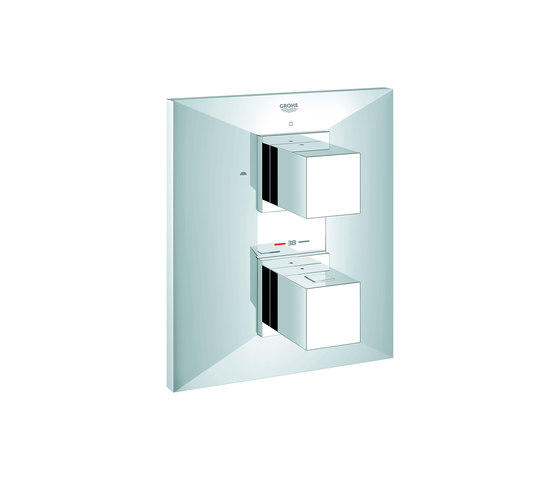 Allure Brilliant Thermostat with integrated 2-way diverter by GROHE | Shower taps / mixers