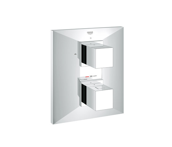 Allure Brilliant Thermostat with integrated 2-way diverter for bath/shower, more than one outlet di GROHE | Rubinetteria doccia