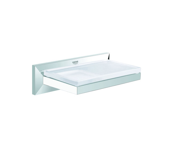 Allure Brilliant Shelf with soap dish by GROHE | Shelves
