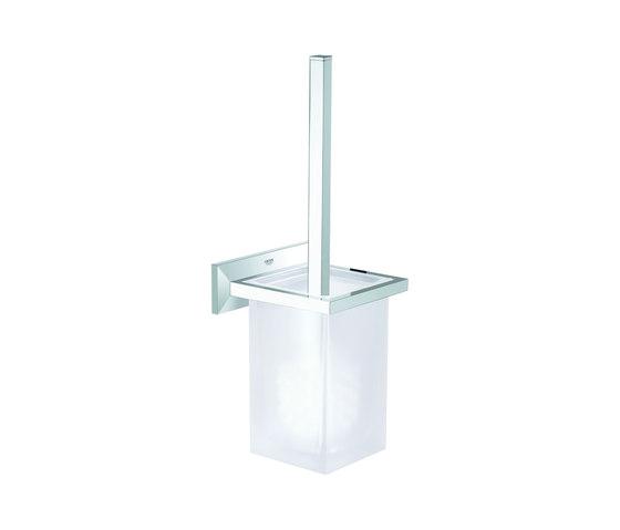 Allure Brilliant Toilet brush set by GROHE | Toilet brush holders