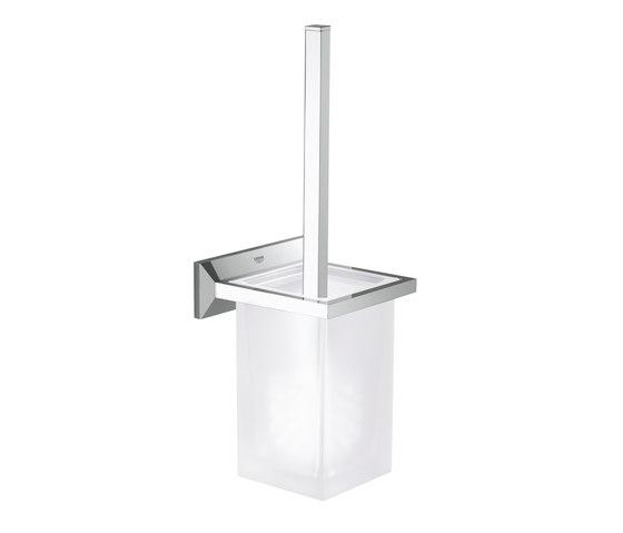 Allure Brilliant Toilet brush set by GROHE   Toilet brush holders