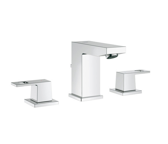 Eurocube Three-hole basin mixer by GROHE | Wash-basin taps