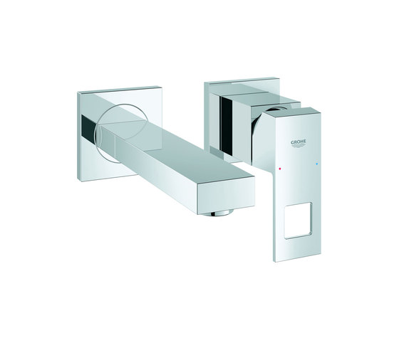Eurocube Two-hole basin mixer S-Size by GROHE | Wash-basin taps