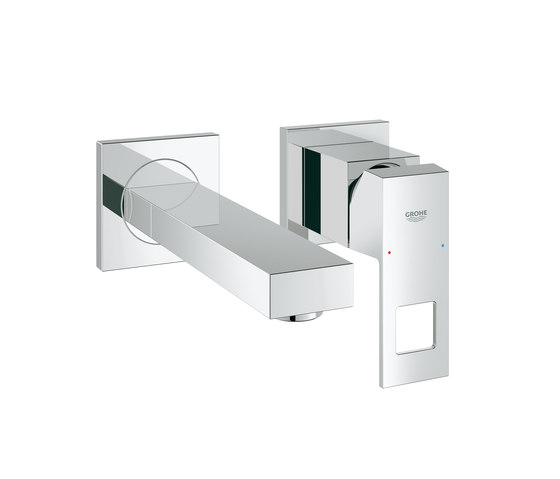 Eurocube Two-hole basin mixer by GROHE | Wash-basin taps