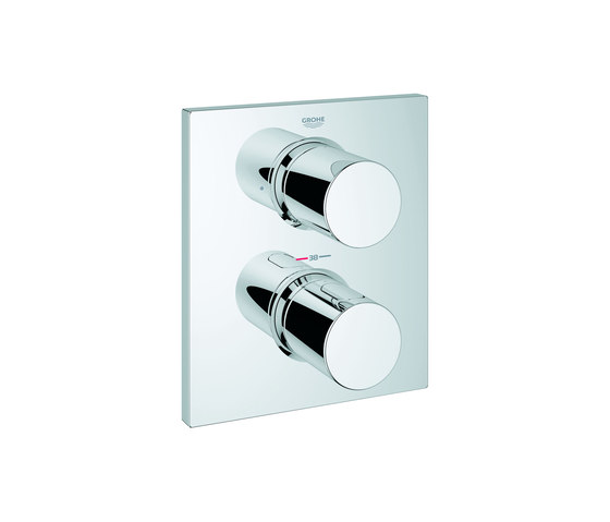 grohtherm f von grohe thermostat fertigmontageset mit. Black Bedroom Furniture Sets. Home Design Ideas