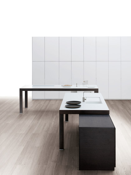 Cusan roble 68 bunotte blanco seda by DOCA | Kitchen systems