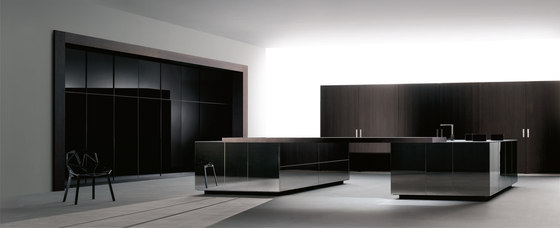 Ideco negro barna robleE 68 super mirror by DOCA | Fitted kitchens