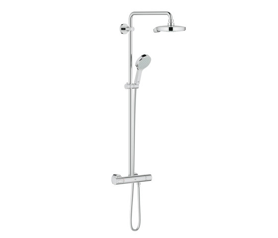 Power & Soul Shower system with thermostat for wall mounting di GROHE | Rubinetteria doccia