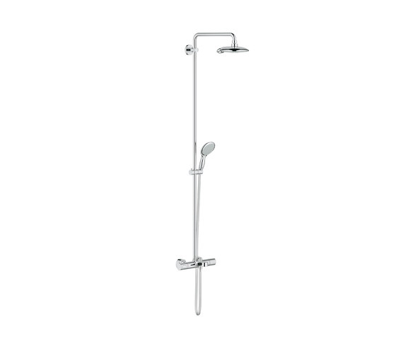 Power & Soul Shower system with bath thermostat for wall mounting by GROHE | Shower taps / mixers