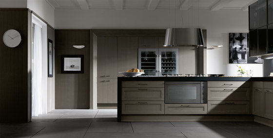Matim roble green barna roble green foro acero cristal bronce by DOCA | Fitted kitchens