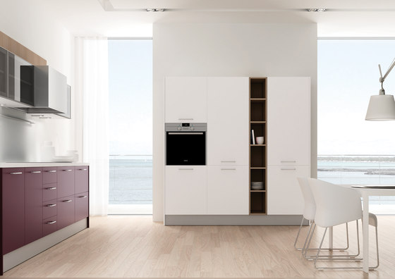 2000 Inox morado blanco ideco gris by DOCA | Fitted kitchens