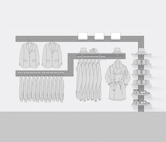 Choices di Shopfitting systems by Vitra | Surface support systems