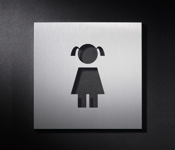 Hinweisschild WC Mädchen von PHOS Design | WC-Zeichen