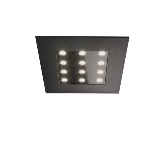 Q 78-LED - Flat Recessed LED Luminaire for the 78 cut-out de Hera | Plafonniers à encastrer LED