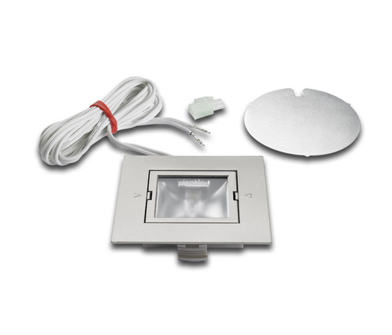 ARF-Q78 / ARF-QB - Square recessed halogen luminaire to fit 78mm cut-out by Hera | Spotlights