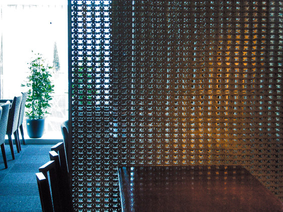 Porous model 1 screen in-situ by Kenzan | Partition wall systems