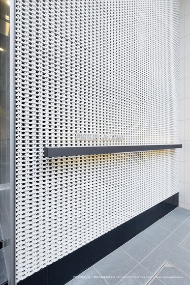 Porous model 1 wall in-situ by Kenzan | Facade design