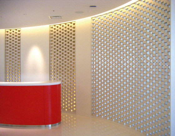 Ceramic screen in-situ di Kenzan | Pareti divisorie ufficio