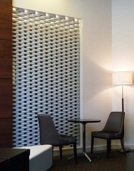 Ceramic screen in-situ by Kenzan | Partition wall systems