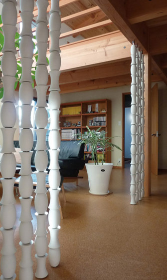Bamboo screen in-situ by Kenzan | Partition wall systems