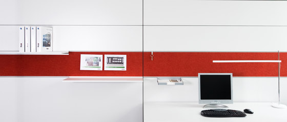 fecoorga horizontal integrated felt pinpanel by Feco | Notice boards