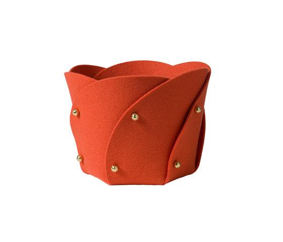 Poppy basket felt di Klong | Contenitori / Scatole