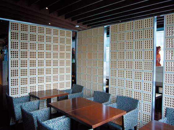 Porous block 200 in-situ by Kenzan | Partition wall systems
